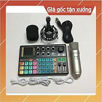 Mic thu âm livestream AT100 sound card k300 bộ thu âm sound card k300 autotune bluetooth