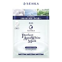 Mặt nạ dưỡng trắng dịu mát da Senka Perfect Aqua White Mask Soothing White 23g
