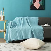 Khăn sofa, trải bàn trang trí Vintage xanh sofa xinh xắn, sang trọng