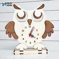 Đồng hồ để bàn chim cú -  Vật dụng trang trí nhà cửa - Quà tặng cho người thân -