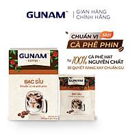 Hộp bạc sỉu GUNAM chuẩn vị cà phê phin (10 gói x 20g)