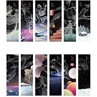 Hộp 30 Đánh Dấu Sách Bookmark Chòm Sao Tâm Trạng Constellation Story SQ-0527 ( Tặng Kèm Bookmark Nam Châm Mèo Cute)