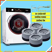 Bộ 04 chân đế cao su đa năng - HT SYS - Đế chống rung máy giặt - Đế chống ồn máy giặt, máy sấy,tủ lạnh, bàn ghế