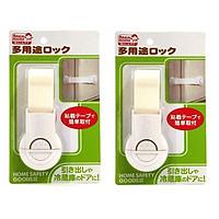 Combo 02 Đai khóa gài cửa phòng, ngăn kéo, tủ lạnh an toàn cho bé - Nội địa Nhật Bản