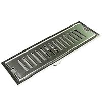 Hố ga thoát sàn Inox SUS 304 10X40cm Eurolife EL-HG1040 (Trắng bạc)