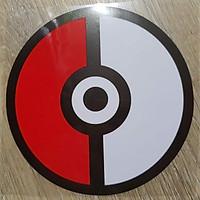 Trái banh Pokemon - Sticker transfer hình dán trang trí Xe hơi Ô tô size 11x11cm