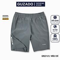 Quần đùi nam Guzado phong cách thể thao khỏe khoắn, chất gió mềm siêu mịn, co giãn tốt, vận động thoải mái GSR01