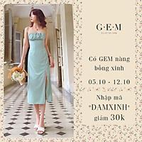 Đầm xanh ngực cúp xếp ly Zaria Dress Gem Clothing SP060371