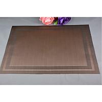 Combo 2 tấm lót bàn ăn placemat viền kẻ 30x45cm