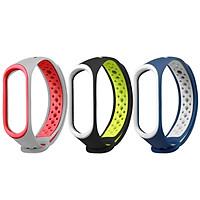 〖Follure〗3PC Replacement Ventilate Sport Soft Wristband Wrist Strap For Xiaomi Mi Band 4