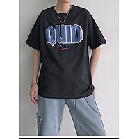 Áo thun nam tay lỡ form rộng Unisex in hình QUID, chất liệu thun cotton mềm mát, thời trang trẻ, phong cách Hàn Quốc