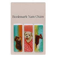 Bookmark Nam Châm - Con Chó Nhỏ Mang Giỏ Hoa Hồng