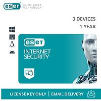 Phần mềm diệt Virus Eset Internet Security 3 Users 1 Year - Bản quyền 3 Máy/1 Năm - Hàng Chính Hãng