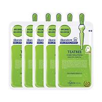 Combo 5 Mặt nạ dưỡng da chiết xuất tràm trà Mediheal Teatree Solution Essential Mask Ex 25ml x5