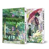 (KHÔNG KÈM HỘP) Hộp ảnh lomo in hình KHU VƯỜN NGÔN TỪ anime 30 tấm dễ thương xinh xắn