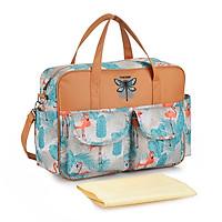 Túi đựng đồ cho mẹ và bé có dung tích lớn.Làm bằng nylon và vải polyester không thấm nước dễ giặt sạch ,dây quai có thể tháo rời đeo vai. Túi đựng tã sữa cho bé