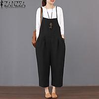 ZANZEA Womens Strappy Dungaree Bib Cargo Pants Long Jumpsuit Trousers Overalls