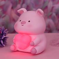 Ống tiết kiệm thú cưng ôm trái tim có đèn phát sáng