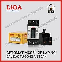 Cầu dao tự động an toàn (APTOMAT) LIOA 2 cực 1 tiếp điểm 10A đến 30A - LIOA MCCB2P1E + Hộp Aptomat lioa SEMCCBN