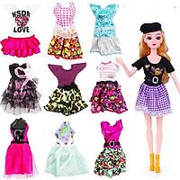 Set 10 trang phục thời trang cho búp bê
