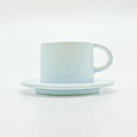 Bộ Ly Cà-Phê Morning 04 + Dĩa Lót Bằng Sứ Cao Cấp Minh Tiến - Màu Pastel