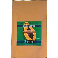 Bột Tẩy da chết tự nhiên hương Đu Đủ Ekoko Body Scrub Papaya 100g tẩy da chết cho mặt, tẩy da chết body và đắp mặt nạ
