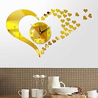 Đồng hồ treo tường 3D tự lắp ráp phong cách Châu Âu hiện đại đang HOT DH05 hình tim