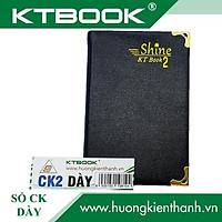 Gói 2 cuốn Sổ ghi chép Bìa Da Đen cao cấp KT 2 dày dòng kẻ ngang khổ 8 x 12 cm - 140 trang
