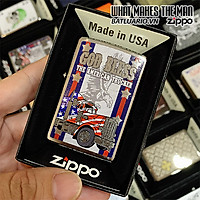 Bật Lửa Zippo 200 God Bless American Truckers