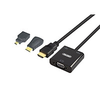 Cáp  HDMI (3 in 1)  To VGA+Audio Unitek (Y-C6355)  - HÀNG CHÍNH HÃNG