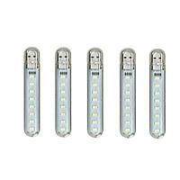 Bộ 5 Đèn Led 8 Bóng Siêu Sáng PKS Cắm Cổng USB ( tặng móc dán PKS)