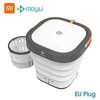 Moyu Portable Mini Washing Machine with UV Light Sanitizer Turbo Washer Folding Lightweight Travel Laundry Tub for