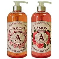 Combo 2 Sữa Tắm L'amont En Provence Hoa Anh Đào và Hoa Hồng 1000ml/chai