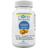 Liposomal Vitamin C SOFTGELS 1000mg/dose -30 Servings - 90 softgels - Quali-C Vitamin C from Scotland - Made in The USA - High Absorption Immunity & Collagen Booster Supplement - Non-GMO, Non- Soy