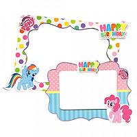 2 khung hình giấy để bàn trang trí sinh nhật - pony