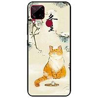 Ốp lưng dành cho Realme C15 mẫu Mèo Uống Trà
