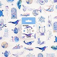 Hộp 46 Miếng Dán Sticker Trang Trí Thế Giới Huyền Ảo