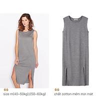 Váy man.go. dư xịn màu ghi chất cotton ( size m(40-50kg), l(50-60kg))