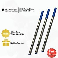 Combo 3 Ruột (ống) mực xanh dạ bi cao cấp B& 0.5mm thân hợp kim dùng cho bút, viết dạ bi