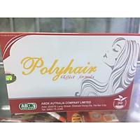 Thực phẩm chức năng POLYHAIR Bổ sung các chất cần thiết để nuôi dưỡng tóc , giúp tóc chắc khoẻ , giảm rụng tóc