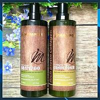Bộ dầu gội xả phục hồi siêu mượt tóc Masaroni Rich Biotin Collagen repair Shampoo & Conditioner 800ml