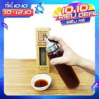 Bình rót một chạm CAO CẤP One Touch Open đựng nước mắm, dầu ăn - thuỷ tinh siêu nhẹ Borosilicat