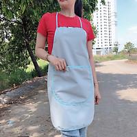 2 tạp dề nấu bếp, thiết kế đơn giản, có túi đựng điện thoại phía trước, kích thước freesize, chất liệu vải dù mỏng, không thấm nước (Nhiều mẫu mã hoa văn) - Xanh nhạt