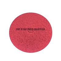 Miếng đánh sàn màu đỏ 5100 size 20 in [Chính hãng 3M] xuất xứ Mỹ
