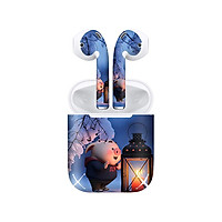 Miếng dán skin chống bẩn cho tai nghe AirPods in hình Heo con dễ thương - HEO2k19 - 079 (bản không dây 1 và 2)