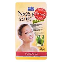 Lột mụn cám mũi Purederm Nose Pore Strips Aloe - Nha đam