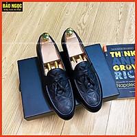 Giày Lười Nam Da Thời Trang Đế Cao Su Đúc 3cm Hàng Xuất Dư Mã K3889 Chuông