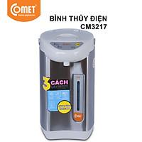 Bình thủy điện thép không gỉ Comet CM3217 3.4 Lít (Bạc) - Hàng Chính Hãng