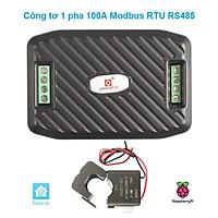Công Tơ 1 Pha 6 Thông Số 100A Modbus RTU RS485 (Hỗ Trợ Home Assistant)