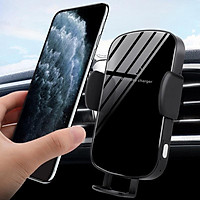 Wireless Car Charger,15W Qi Fast Charging Auto-Clamping Car Mount, Windshield Dash Air Vent Phone Holder Compatible with iPhone 11/11 Pro Max/Xs MAX